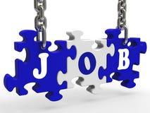 Η εργασία εμφανίζει την απασχόληση και επάγγελμα σταδιοδρομιών εργασίας ελεύθερη απεικόνιση δικαιώματος