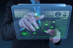 Η εργασία επιχειρηματιών με το νέο σύγχρονο υπολογιστή παρουσιάζει  Στοκ εικόνες με δικαίωμα ελεύθερης χρήσης