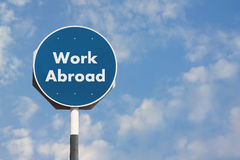 Η εργασία υπογράφει στο εξωτερικό Στοκ Εικόνες
