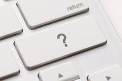 Η ερώτηση εισάγει το κλειδί κουμπιών Στοκ Εικόνα