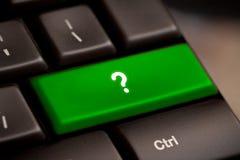 Η ερώτηση εισάγει το κλειδί κουμπιών Στοκ φωτογραφίες με δικαίωμα ελεύθερης χρήσης