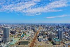 η εσωτερική άποψη γεφυρών παρατήρησης Sapporo Στοκ Εικόνες