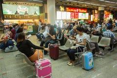 Η εσωτερική άποψη φορά το διεθνή αερολιμένα Mueang Στοκ Εικόνες