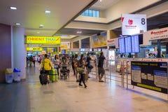 Η εσωτερική άποψη φορά το διεθνή αερολιμένα Mueang Στοκ εικόνα με δικαίωμα ελεύθερης χρήσης