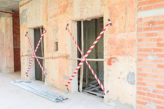 Η εσωτερική ανάπτυξη σχεδίων οικοδόμησης εργοτάξιων οικοδομής στην κατοικία με το διάστημα αντιγράφων προσθέτει το κείμενο Στοκ Εικόνα