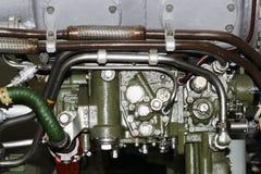 η εσωτερική δομή της αεροσκαφών, στρατιωτικής και αεροδιαστημικής βιομηχανίας μηχανών, αεροπορίας στρατού Στοκ εικόνα με δικαίωμα ελεύθερης χρήσης