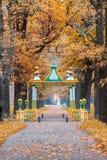 Η δευτερεύουσα κινεζική γέφυρα στο πάρκο του Αλεξάνδρου Στοκ Εικόνα