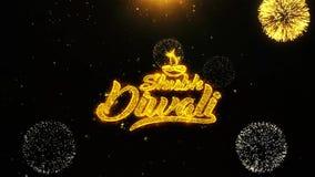 Η ευτυχής κάρτα χαιρετισμών επιθυμιών diwali diwali Shubh, πρόσκληση, πυροτέχνημα εορτασμού περιτυλίχτηκε διανυσματική απεικόνιση