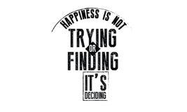Η ευτυχία δεν το δοκιμάζει ή δεν βρίσκει απόφαση ` s ελεύθερη απεικόνιση δικαιώματος