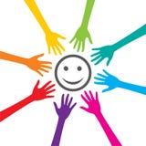 Η ευτυχία είναι βασική στην επιτυχία διανυσματική απεικόνιση