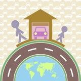 Η ευτυχία είναι ο πατέρας και ο γιος - ένα καλό αυτοκίνητο Στοκ φωτογραφία με δικαίωμα ελεύθερης χρήσης