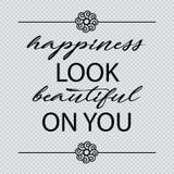 Η ευτυχία φαίνεται όμορφη σε σας ελεύθερη απεικόνιση δικαιώματος
