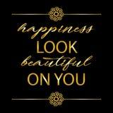 Η ευτυχία φαίνεται όμορφη σε σας απεικόνιση αποθεμάτων