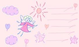Η ευχετήρια κάρτα με τον άγγελο Στοκ Εικόνα