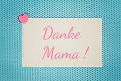 Η ευχετήρια κάρτα σας ευχαριστεί mom Στοκ εικόνες με δικαίωμα ελεύθερης χρήσης