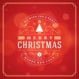Η ευχετήρια κάρτα Χριστουγέννων ανάβει το διανυσματικό υπόβαθρο Στοκ Φωτογραφίες