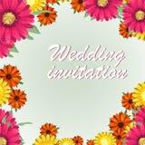 Η ευχετήρια κάρτα, watercolor, μπορεί να χρησιμοποιηθεί ως κάρτα πρόσκλησης για το γάμο, τα γενέθλια και άλλα διακοπές και θερινό Στοκ εικόνες με δικαίωμα ελεύθερης χρήσης