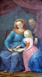 Η ευλογημένη Virgin Mary με τους γονείς της ST Anne και ST Joachim Στοκ εικόνες με δικαίωμα ελεύθερης χρήσης