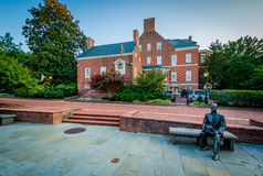 Η λεωφόρος δικηγόρων και το κυβερνητικό σπίτι, σε Annapolis, Μέρυλαντ Στοκ Εικόνες