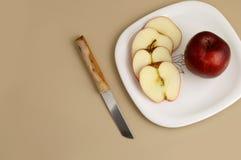 Η εύγευστες Apple και φέτα Στοκ Φωτογραφία