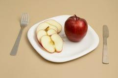 Η εύγευστες Apple και φέτα Στοκ Φωτογραφίες