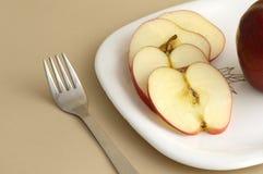 Η εύγευστες Apple και φέτα Στοκ Εικόνες