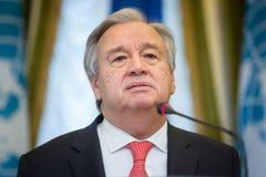 Η.Ε Γενικός Γραμματέας Antonio Guterres Στοκ εικόνα με δικαίωμα ελεύθερης χρήσης
