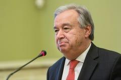 Η.Ε Γενικός Γραμματέας Antonio Guterres Στοκ εικόνες με δικαίωμα ελεύθερης χρήσης