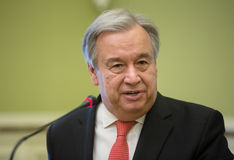 Η.Ε Γενικός Γραμματέας Antonio Guterres Στοκ Εικόνες
