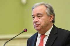 Η.Ε Γενικός Γραμματέας Antonio Guterres Στοκ Φωτογραφία