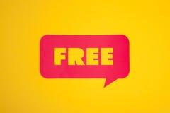 Η ελεύθερη λέξη σε μια φυσαλίδα Στοκ εικόνα με δικαίωμα ελεύθερης χρήσης