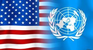 Η.Ε ΗΠΑ σημαιών Στοκ Εικόνες