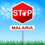 Η ελονοσία στάσεων αντιπροσωπεύει την παύση του κινδύνου και την προειδοποίηση Στοκ Εικόνες