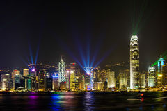 Η ζάλη ελαφριά παρουσιάζει στο Χονγκ Κονγκ. Στοκ Εικόνες