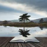 Η ζαλίζοντας εικόνα τοπίων της δραματικής θύελλας καλύπτει πέρα από την αίθουσα Tarn του Kelly στην περιοχή λιμνών κατά τη διάρκε στοκ εικόνα