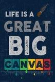 Η ζωή είναι ένα μεγάλο μεγάλο Canvers Στοκ εικόνα με δικαίωμα ελεύθερης χρήσης