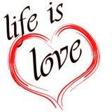 Η ζωή είναι αγάπη ελεύθερη απεικόνιση δικαιώματος