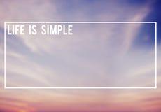 Η ζωή είναι απλή έννοια ευτυχίας τρόπου ζωής ελεύθερη απεικόνιση δικαιώματος