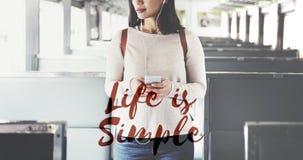 Η ζωή είναι απλή ύπαρξη απολαμβάνει το μυαλό χαλαρώνει την έννοια ισορροπίας Στοκ φωτογραφία με δικαίωμα ελεύθερης χρήσης