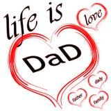 Η ζωή είναι μπαμπάς αγάπης ελεύθερη απεικόνιση δικαιώματος