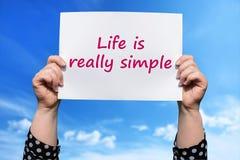 Η ζωή είναι πραγματικά απλή Στοκ φωτογραφία με δικαίωμα ελεύθερης χρήσης