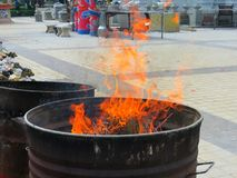 Η ζωή είναι όπως μια φλόγα Στοκ φωτογραφία με δικαίωμα ελεύθερης χρήσης
