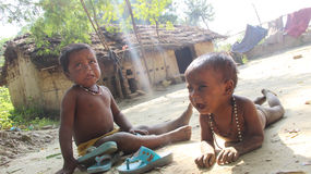 Η ζωή των παιδιών Musahar στοκ εικόνες