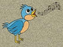 Η ζωγραφική ανακούφισης πουλιών τραγουδιού παραγμένος πλέκει backgroun ελεύθερη απεικόνιση δικαιώματος