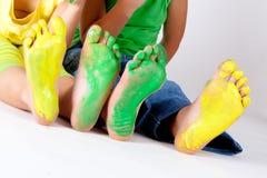 Η ζωγραφική είναι διασκέδαση για τα παιδιά Στοκ Φωτογραφία