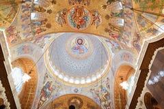 Η ζωγραφική στο θόλο του καθεδρικού ναού της θάλασσας Nikolsokgo στοκ φωτογραφία με δικαίωμα ελεύθερης χρήσης