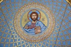 Η ζωγραφική στο θόλο του καθεδρικού ναού της θάλασσας Nikolsokgo Kronstadt στοκ φωτογραφίες με δικαίωμα ελεύθερης χρήσης