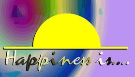 Η ζωηρόχρωμη απεικόνιση με την ευτυχία λέξεων είναι απεικόνιση αποθεμάτων