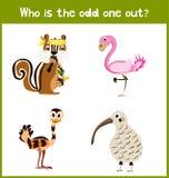 Η ζωηρόχρωμη εκπαιδευτική σελίδα γρίφων παιχνιδιών κινούμενων σχεδίων παιδιών για τα βιβλία των παιδιών και τα περιοδικά στο θέμα απεικόνιση αποθεμάτων
