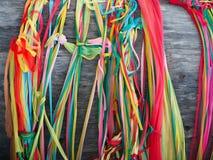 Η ζωηρόχρωμη κορδέλλα για προσεύχεται Στοκ φωτογραφία με δικαίωμα ελεύθερης χρήσης
